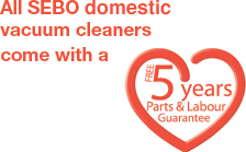 FREE 5 years Parts & Labour Guarantee